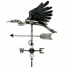 3D Heron Weathervane with Garden Stake