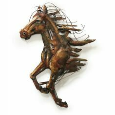 Abstract Metal Horse 3D Wall Art