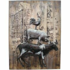Farmyard Animals 3D Wall Art