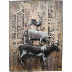 Primus Farmyard Animals 3D Wall Art