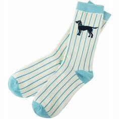 Labradors on Stripe Women's Crew Socks
