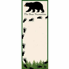 """Bear Necessities"" Magnetic List Noteboard"