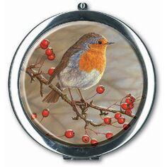 Robert Fuller Robin in Hawthorn Compact Mirror