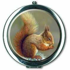 Robert Fuller Red Squirrel Compact Mirror