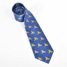 Fox and Chave Flying Pheasant - Royal Blue Silk Tie