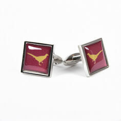 Fox and Chave Pheasant Cufflink