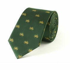 Fox and Chave Tractors Green Silk Tie