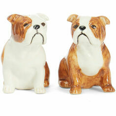 Quail Ceramics English Bulldog Salt and Pepper Pots