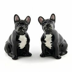 French Bulldog Salt and Pepper Pots - Black and White