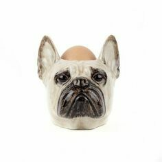 Quail Ceramics French Bulldog Face Egg Cup - Fawn