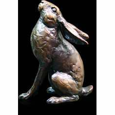 Richard Cooper Medium Bronze Hare Moon Gazing