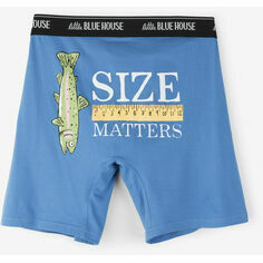 Size Matters Blue Men's Boxers