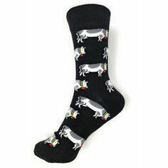 Cows on Black Socks