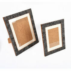 Guinea Fowl Mounted Feather Photo Frame