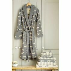 Emily Bond Grey Dachshund Bath Robe
