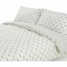 Emily Bond Dachshund Grey Duvet Set