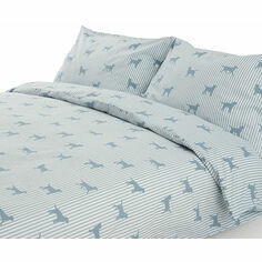 Emily Bond Labrador Blue Duvet Set
