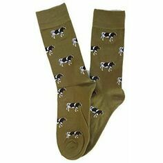 Tie Studio Cows on Green Socks