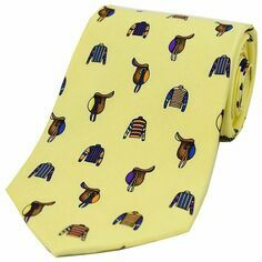 Soprano Yellow Jockey Country Silk Tie