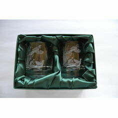 Pair of Pheasant and Reeds Whisky Glasses