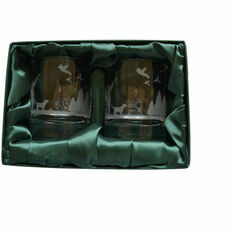 Pair of \'Pheasant Shooting Scene\' Whisky Glasses