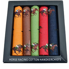 5 Soprano Colourful Luxury Horse Racing Handkerchiefs