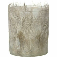 Duck Feather Tealight Candle Holder - White