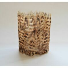 Pheasant Feather Tealight Candle Holder - Brown
