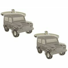Landrover Defender Rhodium Plated Cufflinks
