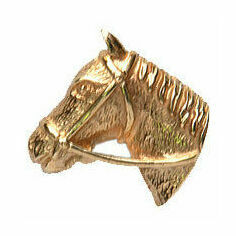 Horse Head 9ct Gold Tie Tac