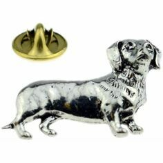 Pewter Dachshund Lapel Pin