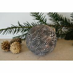 Guinea Fowl Feather Bauble