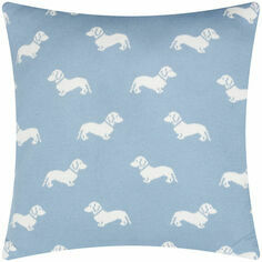 Emily Bond Blue Dachshund Knitted Cushion