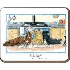 Alison's Animals 'Aga Saga' Coaster