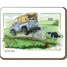 Alison\'s Animals \'Late for Work\' Coaster