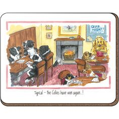 Alison\'s Animals \'Quiz Night\' Coaster