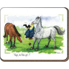 Alison's Animals 'Nope, no polos' Coaster