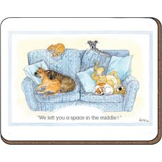 Alison\'s Animals \'We left you a space in the middle\' Coaster