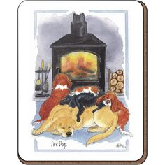 Alison's Animals 'Fire Dogs' Coaster
