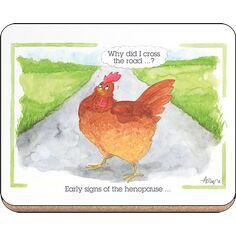 Alison's Animals 'Henopause' Coaster