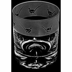 Animo Glass Pheasant Whisky Tumbler