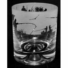 Animo Glass Fishing Scene Whisky Tumbler