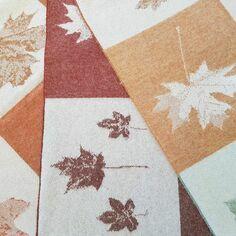 The Isle Mill Autumnal Leaves Merino Wool Throw