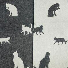 The Isle Mill Black Cat Merino Wool Throw