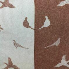 The Isle Mill Pheasants Merino Wool Throw