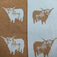 The Isle Mill Highland Cow Merino Wool Throw