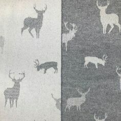 The Isle Mill Stag on Grey Merino Wool Throw