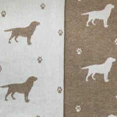 The Isle Mill Labrador on Beige Merino Wool Throw
