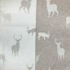 The Isle Mill Stag on Fawn Merino Wool Throw