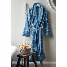 Emily Bond Blue Dachshund Bath Robe